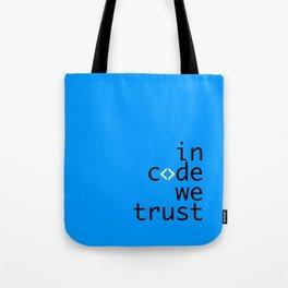 In Code We Trust - Developer Tote Bag