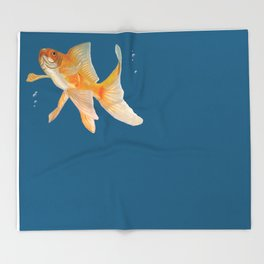 Fish & Bubbles Throw Blanket