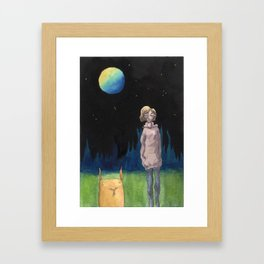3 am with the Square Rabbit Framed Art Print