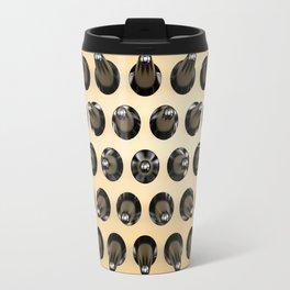Black On Gold Latex Spikes Travel Mug