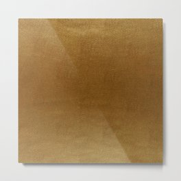 leather gold BEAUTY Metal Print