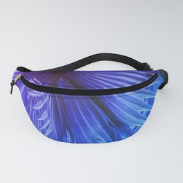 Fantasy Tropical Leaves in Purple and Blue Fanny Pack