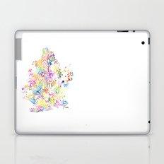 Typographic Brooklyn - Multi Color Watercolor map art Laptop & iPad Skin