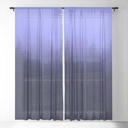 Periwinkle Fog 0367 - Seward, Alaska Sheer Curtain