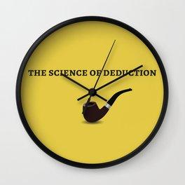 Sherlock Holmes Quote I Wall Clock