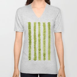 Leaf Pattern in Watercolour Unisex V-Neck
