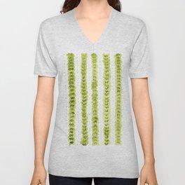 Leaf Pattern in Watercolour Unisex V-Neck