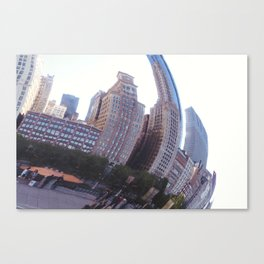 Reflecting, Chicago City in Cloud Gate Canvas Print
