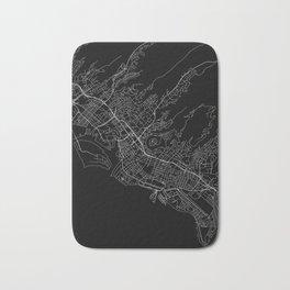 Honolulu Black Map Bath Mat