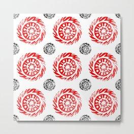 Sun mandala pattern Metal Print