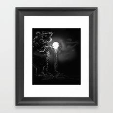 Drawn to the light Framed Art Print