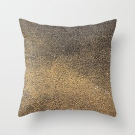 Black Yellow Sandpaper Texture Throw Pillow