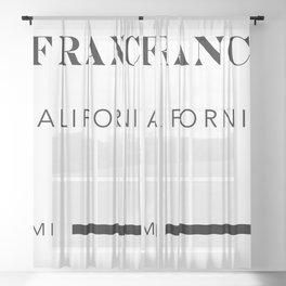 San Francisco California City Miles Arrow Landscape Sheer Curtain