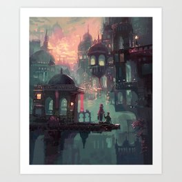 Can We Stay in My World for Just One More Minute? Art Print