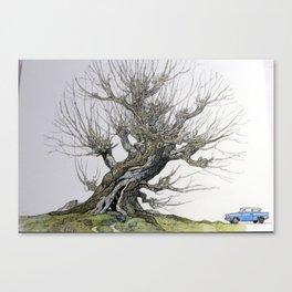 Fantasy Womping Willow Tree Canvas Print