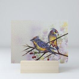 Love Birds 2   oiseaux amoureux 2 Mini Art Print