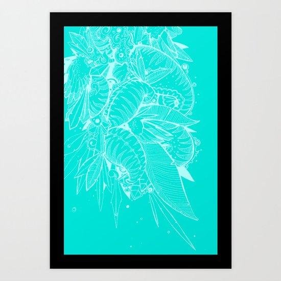 Feathered Nautilus Art Print