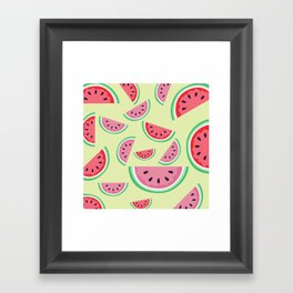 AFE Watermelon Pattern 3 Framed Art Print