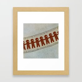 Gingerbread and Christmas Framed Art Print