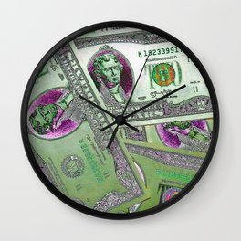 Money and Cash Wall Clock