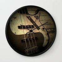 bass Wall Clocks featuring Bass-ic by Andy Burgess