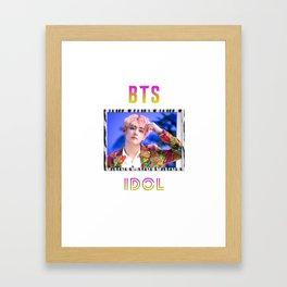BTS Song IDOL Design - V Framed Art Print