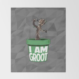 Baby Groot Throw Blanket