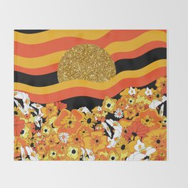 Mr. Sun Throw Blanket