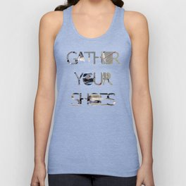 Gather Your Shoes - Close-up #2 Unisex Tank Top
