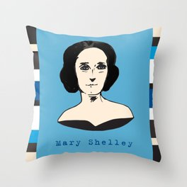 Mary Shelley, hand-drawn portrait Throw Pillow