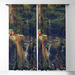 "Sir Lawrence Alma-Tadema ""Waterfall nymph"" Blackout Curtain"