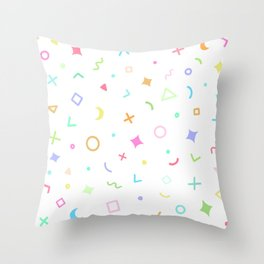 Geometric Pattern - Pastel Rainbow Throw Pillow