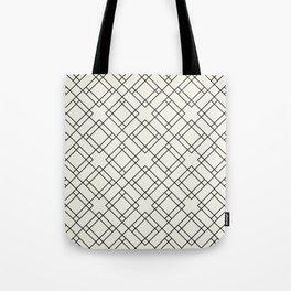 Simply Mod Diamond Black and Cream Tote Bag
