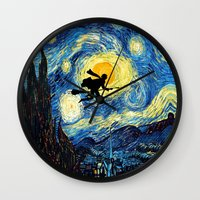 quidditch Wall Clocks featuring Young wizzard abstract art painting iPhone 4 4s 5 5c, ipod, ipad, pillow case, tshirt and mugs by Three Second