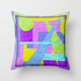 Geom Shaping Bright Throw Pillow