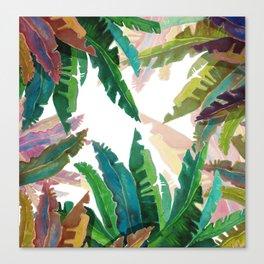 Color LEaves Watercolor Canvas Print
