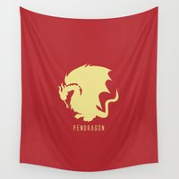merlin Wall Tapestries featuring Pendragon symbol, Merlin by carolam