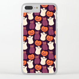 Halloween Marshmallows Clear iPhone Case