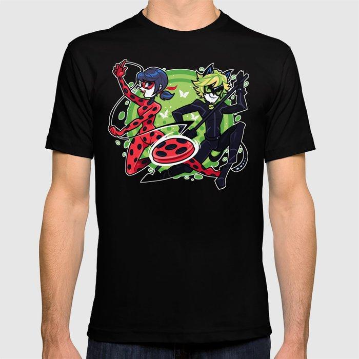 dd8774e89ee60 Miraculous Ladybug and Cat Noir T-shirt