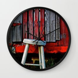 Milk Stool Wall Clock