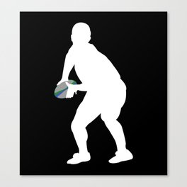 Scrum Half Rugby Player Silhouette Canvas Print