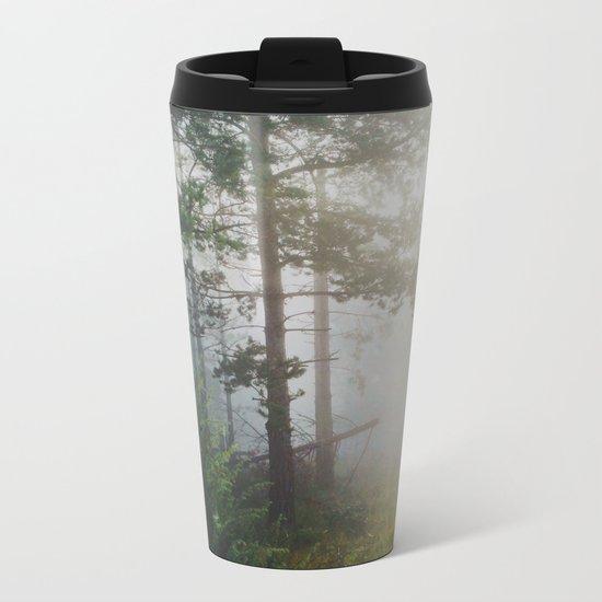 Fog in the forest Metal Travel Mug