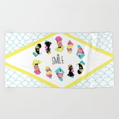 Hipster Smile Beach Towel