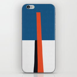 Blue and red composition XVII iPhone Skin