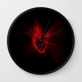 heart light Wall Clock