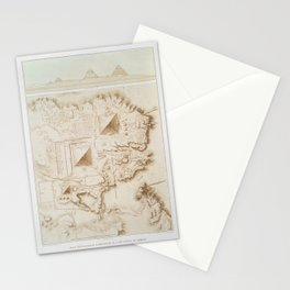 Topographic map of part of the Memphite Necropolis Stationery Cards