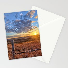 Sunset Fenceline 2 Stationery Cards