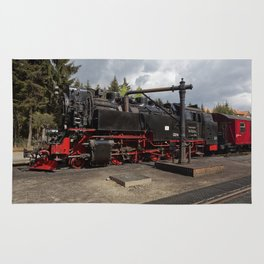 Steam train for water refueling Rug
