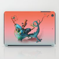 monster hunter iPad Cases featuring The Hunter Worlds by Diego Sac