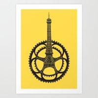 tour de france Art Prints featuring Le Tour de France by Foster Type